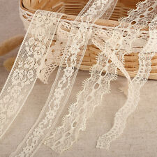 20m x Vintage Cream Lace Bridal Wedding Trim Ribbon Craft Gift