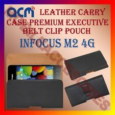 ACM-BELT CASE for INFOCUS M2 4G MOBILE LEATHER POUCH COVER HOLSTER HOLDER LATEST