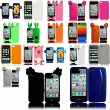For Apple Iphone 4GS 4G CDMA GSM Cute Silicone Case Skin Cover