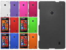 For Nokia Lumia 520 Rubberized Hard Case Snap on Phone Cover +Screen Protector