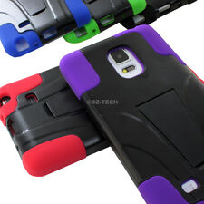 For Samsung Galaxy Note Edge Rugged Hybrid Armor Hard Case Cover Y Kickstand