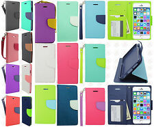 Apple iPhone 6 4.7 Premium Leather 2 Tone Wallet Pouch Flip Cover + Screen Guard
