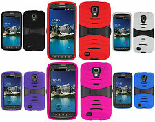 For Samsung Galaxy S4 S IV ACTIVE i537 Rubber KICK STAND Case Phone Cover
