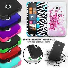 FOR NOKIA LUMIA 630 635 TUFF DUAL LAYER SHOCKPROOF HYBRID HARD PHONE CASE COVER