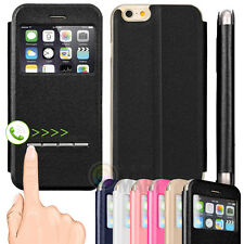 "For iPhone 6 4.7"" , 6 Plus 5.5"" Flip Leather with View Window Skin Cas"