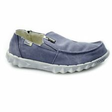 Hey Dude FARTY CHALET Mens Warm Winter Faux Fur Comfy Canvas Wide Shoes Blue