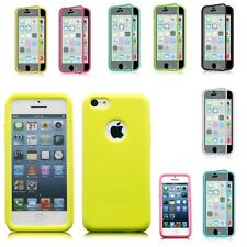 For Apple iPhone 5C Wrap Up TPU Skin Case Cover With Built in Screen P
