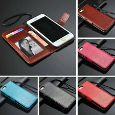 Flip PU Leather Photo Slot Card Stand Cover Wallet Case For iPhone 6Pl