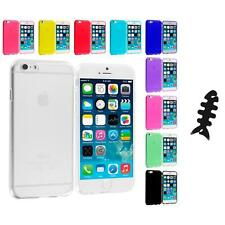 For Apple iPhone 6 Plus 5.5 Color TPU Rubber Case Cover Cable Wrap