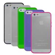 Hybrid TPU Bumper+Transparent Crystal Hard Skin Cover Case for iPhone