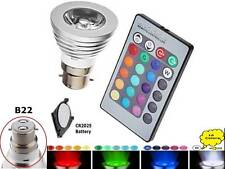 16 Colors Changing 5W B22 3W E27 RGB LED Lamp Light Bulb + IR Remote Control UK