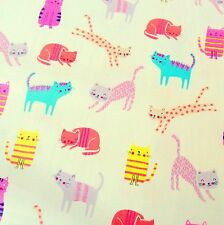 "Dashwood Studios Cat Cotton Fabric, 44"", 110 cm wide, sold by the 1/2 metre"