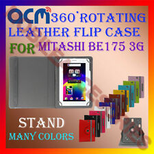 ACM-ROTATING 360° LEATHER FLIP STAND COVER CASE for MITASHI BE175 3G TABLET NEW