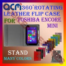 ACM-ROTATING 360° LEATHER FLIP STAND COVER CASE for TOSHIBA ENCORE MINI TABLET