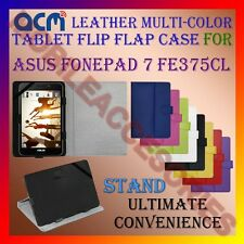 ACM-LEATHER FLIP MULTI-COLOR COVER CASE STAND for ASUS FONEPAD 7 FE375CL TABLET