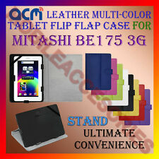 ACM-LEATHER FLIP MULTI-COLOR COVER CASE STAND for MITASHI BE175 3G TABLET CARRY