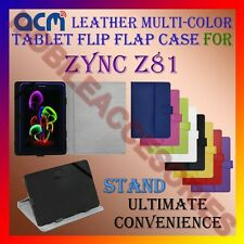 ACM-LEATHER FLIP MULTI-COLOR COVER CASE STAND for ZYNC Z81 TAB CARRY TABLET TAB