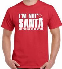I'm Not Santa But You Can Sit On My Lap Mens Funny Christmas T-Shirt Jumper Gift