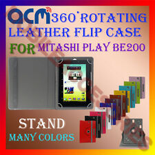 ACM-ROTATING 360° LEATHER FLIP STAND COVER CASE for MITASHI PLAY BE200 TABLET