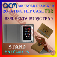 ACM-DESIGNER ROTATING 360° FLIP STAND COVER CASE for BSNL PENTA IS709C TPAD TAB