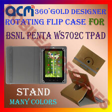 ACM-DESIGNER ROTATING 360° FLIP STAND COVER CASE for BSNL PENTA WS702C TPAD TAB