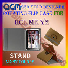 ACM-DESIGNER ROTATING 360° FLIP STAND COVER CASE for HCL ME Y2 TABLET CARRY TAB