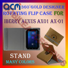 ACM-DESIGNER ROTATING 360° FLIP STAND COVER CASE for IBERRY AUXUS AX01 AX-01 TAB