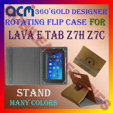 ACM-DESIGNER ROTATING 360° FLIP STAND COVER CASE for LAVA E TAB Z7H Z7C TABLET