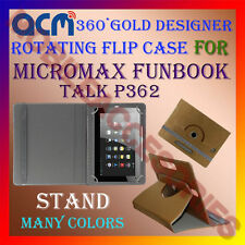 ACM-DESIGNER ROTATING 360° FLIP STAND COVER CASE for MICROMAX FUNBOOK TALK P362