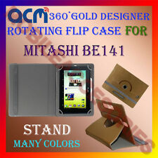 ACM-DESIGNER ROTATING 360° FLIP STAND COVER CASE for MITASHI BE141 TABLET CARRY