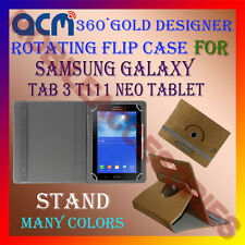 ACM-DESIGNER ROTATING 360° FLIP STAND COVER CASE for SAMSUNG TAB 3 T111 NEO TAB