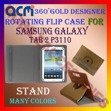 ACM-DESIGNER ROTATING 360° FLIP STAND COVER CASE for SAMSUNG GALAXY TAB 2 P3110