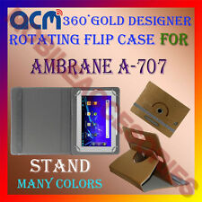 ACM-DESIGNER ROTATING 360° FLIP STAND COVER CASE for AMBRANE A-707 TABLET CARRY