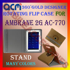 ACM-DESIGNER ROTATING 360° FLIP STAND COVER CASE for AMBRANE 2G AC-770 TAB CARRY