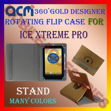 ACM-DESIGNER ROTATING 360° FLIP STAND COVER CASE for ICE XTREME PRO TABLET CARRY