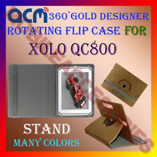 ACM-DESIGNER ROTATING 360° FLIP STAND COVER CASE for XOLO QC800 TABLET TAB CARRY