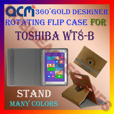 ACM-DESIGNER ROTATING 360° FLIP STAND COVER CASE for TOSHIBA WT8-B TABLET TAB
