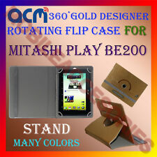 ACM-DESIGNER ROTATING 360° FLIP STAND COVER CASE for MITASHI PLAY BE200 TABLET