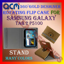 ACM-DESIGNER ROTATING 360° FLIP STAND COVER CASE for SAMSUNG GALAXY TAB 2 P5100