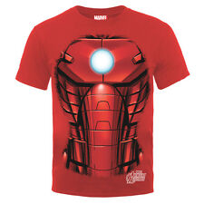 T-SHIRT IRON MAN Chest Red TShirt IRON MAN PETTO Rossa 100% ORIGINALE
