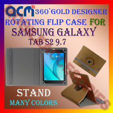 ACM-DESIGNER ROTATING 360° FLIP COVER STAND CASE for SAMSUNG GALAXY TAB S2 9.7