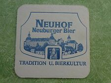 Beer Bierdeckel Coaster: NEUHOF Neuburger Bier ~ Neuhofbräu ~ GERMANY Since 1709