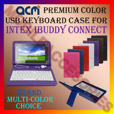 "ACM-USB COLOR KEYBOARD 7"" CASE for INTEX IBUDDY CONNECT TAB LEATHER COVER STAND"