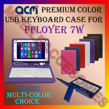 "ACM-USB COLOR KEYBOARD 7"" CASE for PLOYER 7W TABLET LEATHER COVER STAND CARRY"