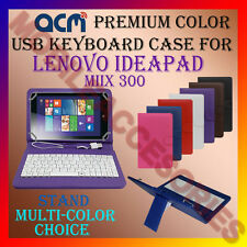 "ACM-USB COLOR KEYBOARD 8"" CASE for LENOVO IDEAPAD MIIX 300 LEATHER COVER STAND"