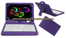 """ACM-USB COLOR KEYBOARD 7"""" CASE for ZYNC Z81 RAINBOW TABLET LEATHER COVER STAND"""