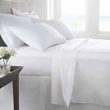 White Bed Sheet Set - Queen - King - Full - Twin - CalKing - 1800 Becky Cameron