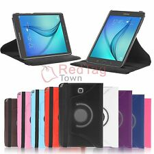 "Leather Smart Case Cover for Samsung Galaxy Tab A 8.0"" SM-T350 9.7"" SM-T550 Tab"