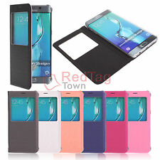 Luxury Window View Flip Leather Case Cover for Samsung Galaxy S6 Edge Plus Note5