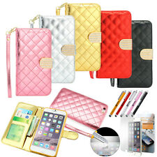 PU Leather Wallet Flip Folio Pouch Case Cover Stand For iPhone 6 Plus / 6S Plus